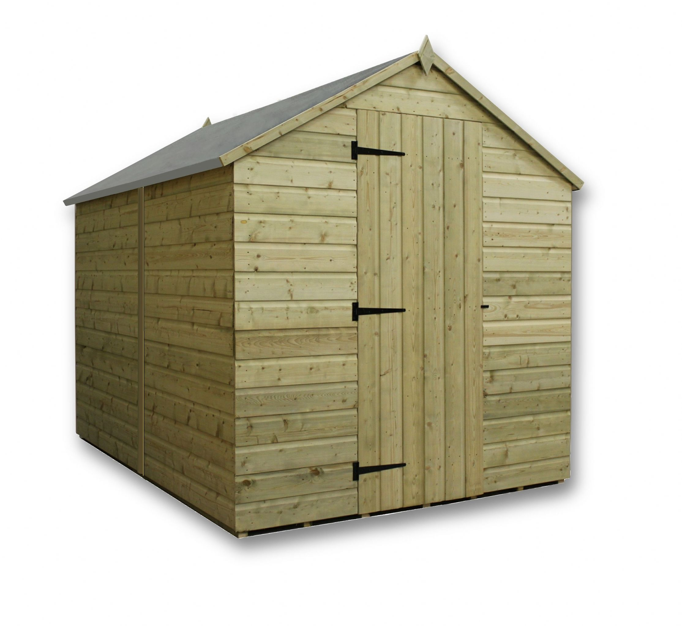 overlap apex shed pressure treated double door forest garden wooden