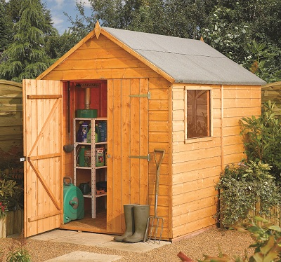 Garden sheds with glass windows