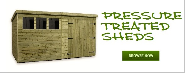 pressure treated sheds