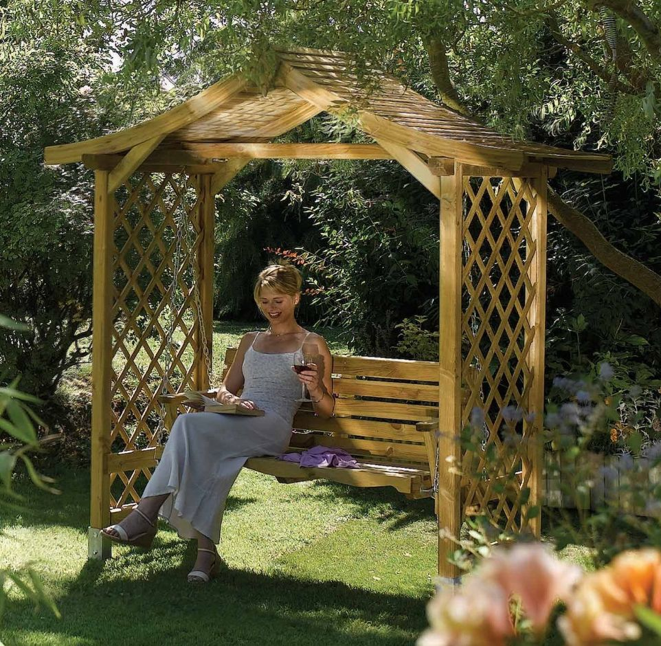 Rowlinson S Dartmouth Arbour With Swing Seat